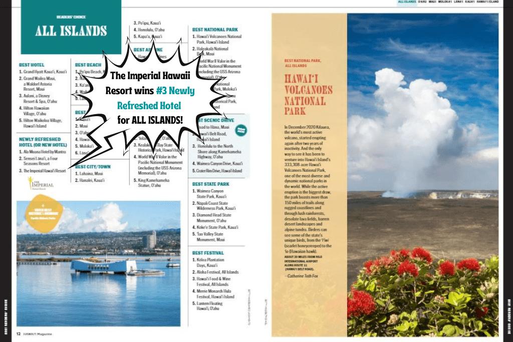 2021 Hawaii Magazine Readers' Choice Award